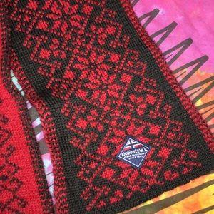 Nordstrikk Accessories - Nordstrikk Norwegian Red & Black Wool Blend Scarf